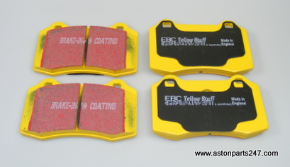 V8 VANTAGE & DB9 YELLOWSTUFF 4000 SERIES BRAKE PAD SET REAR – 7G43-2C562-AA-EBC/Y.
