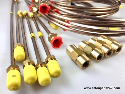 DB5 & DB6 BRAKE PIPE SET CUPRO NICKEL – APGB5222.