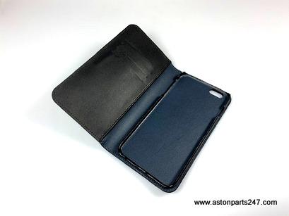 RANGE ROVER iPHONE 6 PLUS BLACK LEATHER WALLET PHONE CASE – LDPH668BKA.