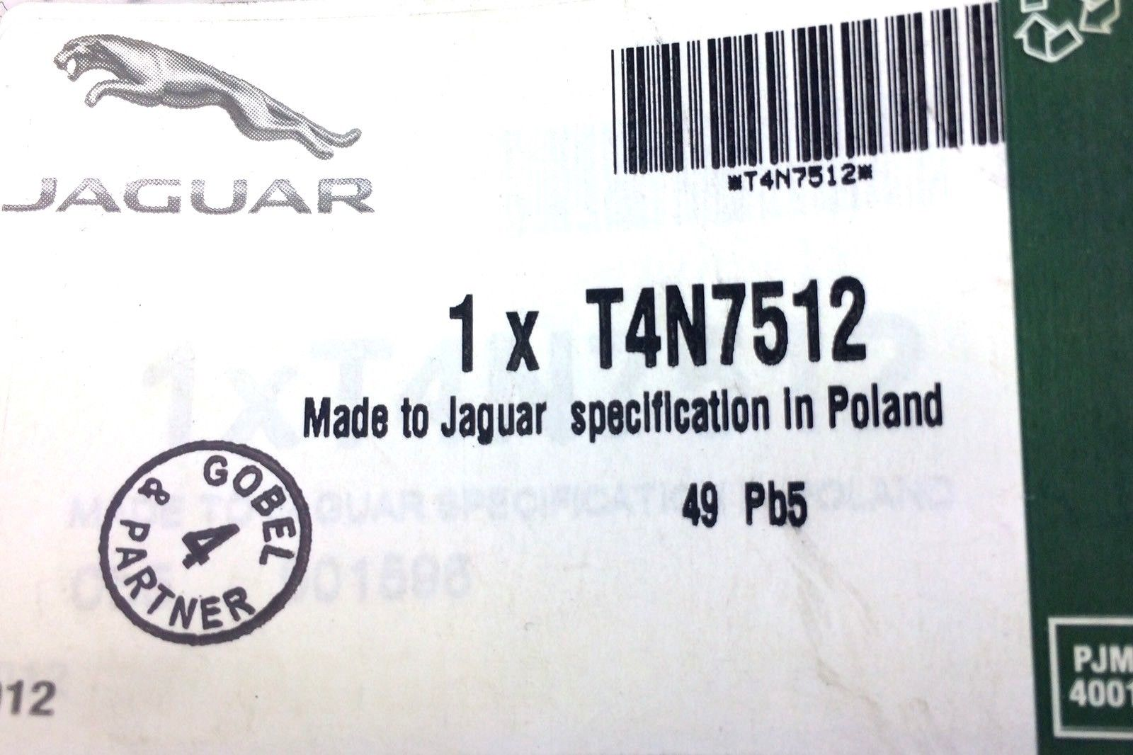 Jaguar XE New Genuine Front Mudflap Mud Flap Set T4N7512